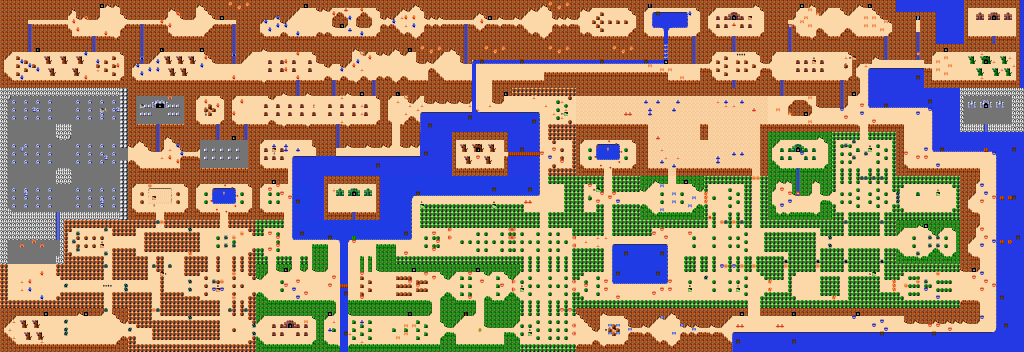 Carte du monde de The Legend of Zelda